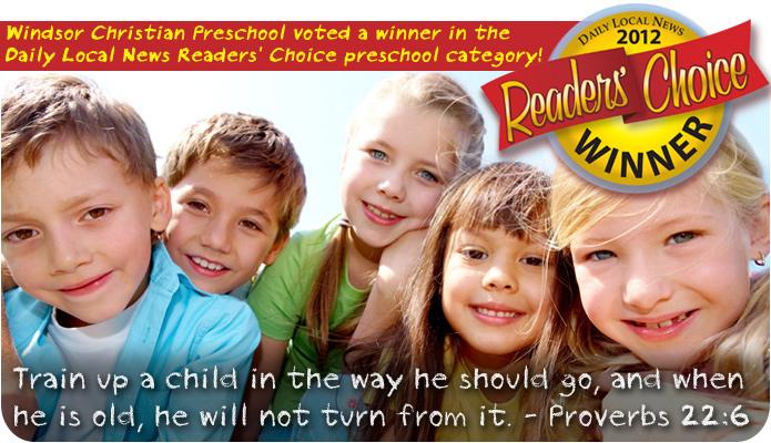 Windsor Christian Preschool | Offering Morning or Afternoon